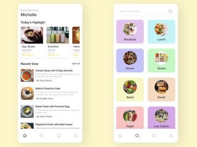 Cooking App Design Concept fun learning mobile app concept design cooking app