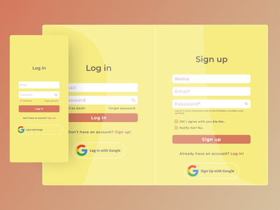 Log in / Sign up Page (Classic) classic google sign up page sign up log in page designer creative ux website ui figma design