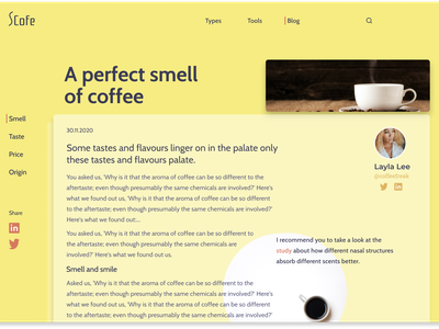 Blog Post- Detail Page blog design blog post post blog typography best practices designer creative ux website ui figma design