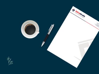 Letterhead Design Services PrimaThink Tech vector ux letterhead design illustration design branding