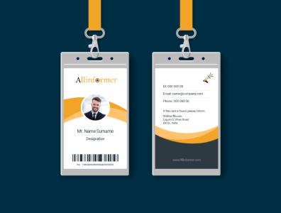 Id Card Design Service PrimaThink typography id-card-design vector ui illustration design branding