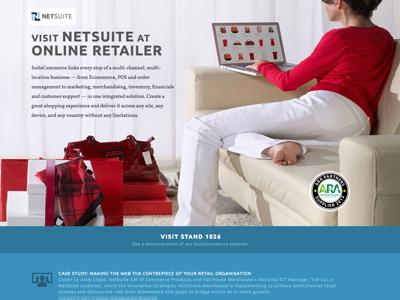 NetSuite Online Retailer responsive parallax