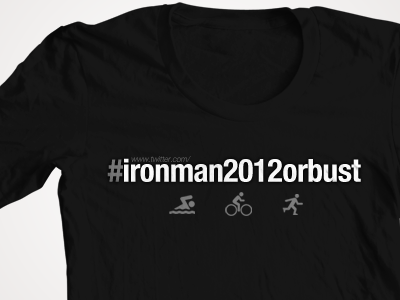 #Ironman2012orbust ironman shirt tshirt redman swim bike run
