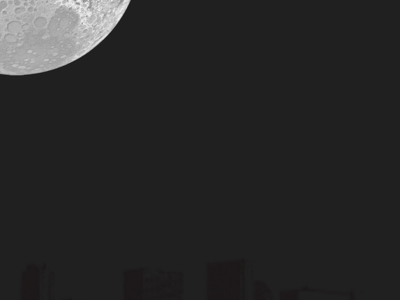 City Moon moon city desktop