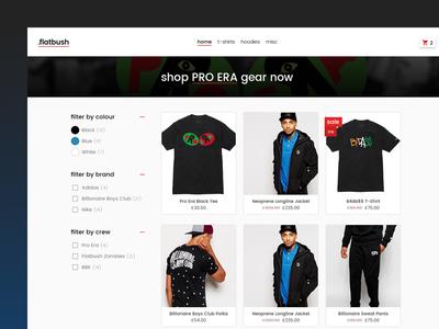 Flatbush Categories web design t-shirt street ui ux woocommerce ecommerce store website apparel flatbush