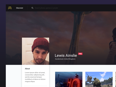 Profile Page material app ui web user profile