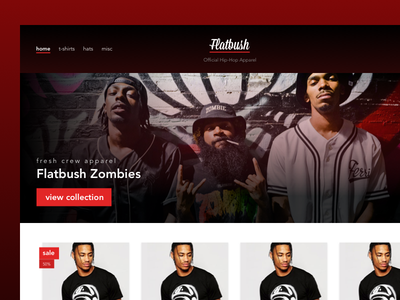 Flatbush Apparel Web woocommerce ecommerce hero web front store shop clothing apparel flatbush