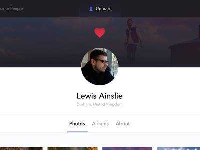 Followed User app web ux ui upload following followed albums photo profile user