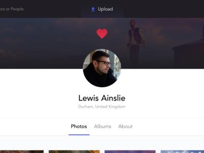 Followed User app web ux ui upload following followed albums photo profile user