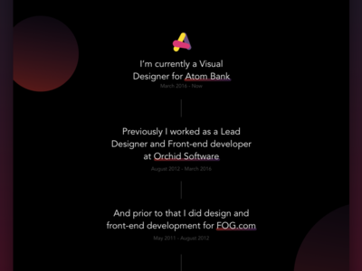 Readable CV experience resume ui cv