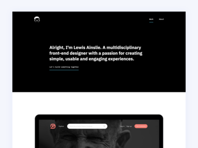 Portfolio 2018 interface ux ui design web website netlify gatsby react