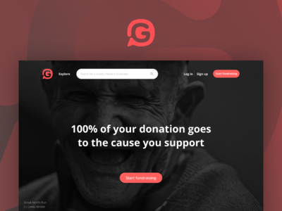 Givey Home website ui web charity