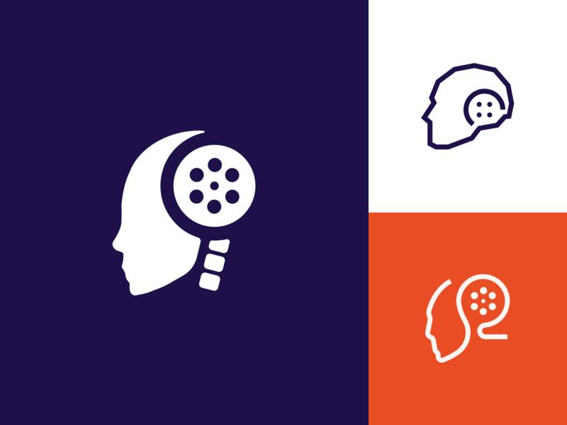 Thinkbot Films Branding logo robot studio film branding identity design