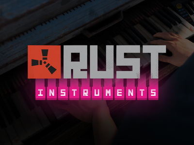 Rust Instruments Branding game design piano keyboard instruments branding game