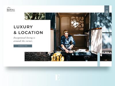 Mobile Home Website Design web design web personal ui website