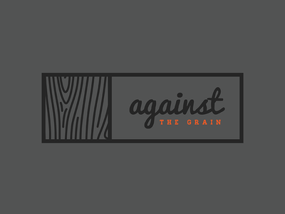 Against The Grain Rejected Logo grain rejection logo wood