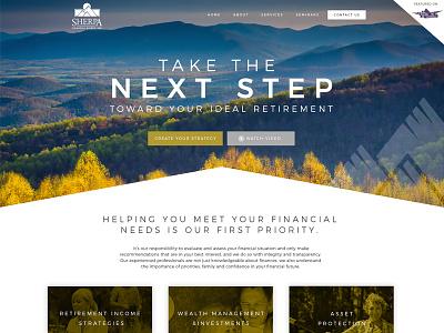 Sherpa Financial Initial design web design initial