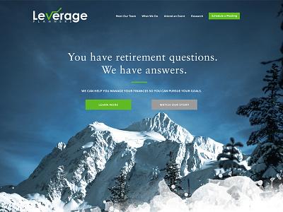 Leverage Planners Financial Website website advisors financial