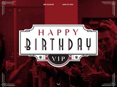 Birthday Website deco art website birthday