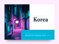 Homepage for Korean Wikipedia