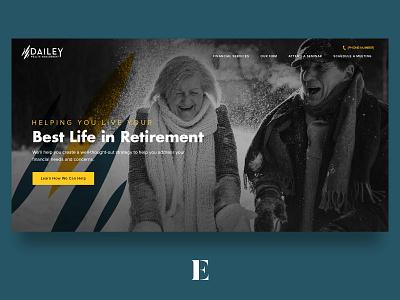 Dailey Wealth Management wealth management ui retirement financial website