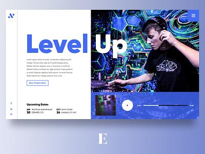 Level Up Artist Website typography design ux ui website music dj