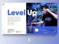 Level Up Artist Website