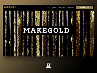 Bajillion ui design make gold agency branding website