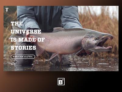 Motovike Films Website fishing hunting design website video agency bajillion ui