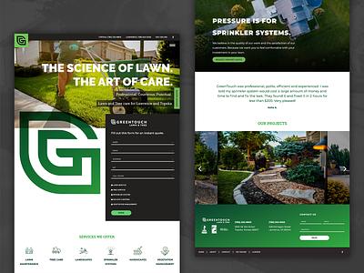 Greentouch Website typography branding web design landscape design ui website