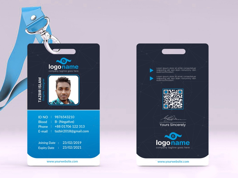 Identity Card design id card bundle tag staff id card layoutdesign identification personal identity card design id badge printing service realistic mockup office card id kit id badge company id card