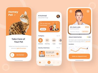 Pet Care App buy sale pet care app pet care pet mobile app new modern popular top ux vector ui mobile logo illustration icon graphic design design branding