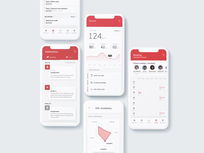 Learning Management Application ui app design