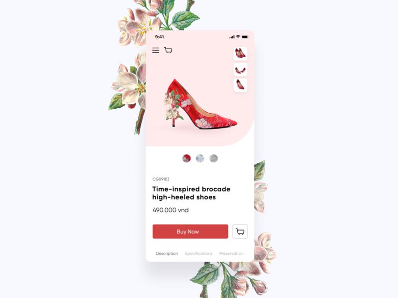 High-Heels concept design ui app design