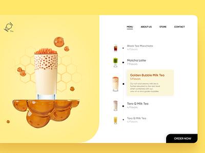 Beverage Concept - Honey Milk tea figma food beverage milk tea ui