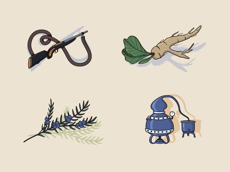 Drawings for homemade alcohol label design alcohol illustraion still moonshine gun horseradish juniper plants