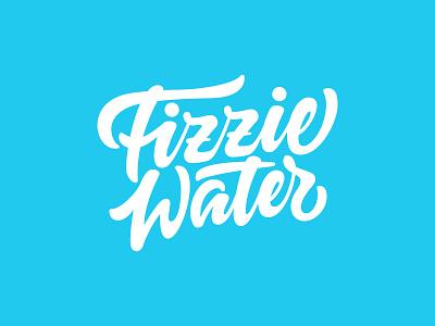 Fizzie Water Logo customtype custom lettering handwritten music musiclogo wordmark logotype design handmade vector procreate logotype type calligraphy brand identity logo lettering typography branding