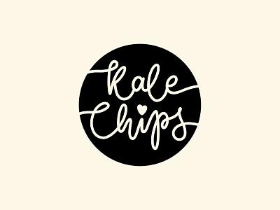 Kale Chips Lettering Stamp stamp adobe illustrator procreateapp procreate chips vegan hand drawn handlettering handmade vector logotype type graphic design calligraphy brand identity logo lettering typography branding