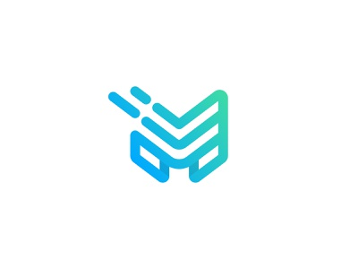 MainCore unused logomark monogram symbol mark m linear minimalist minimal validation enrichment data identification identity gradient vector logomark type typography logo brand identity branding