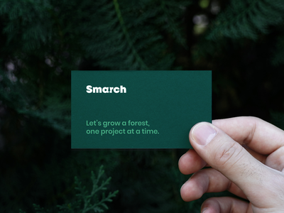 Smarch Branding mission dribbble evergreen pine iphone ux ui t-shirt business card photoshoot photo software forest logotype design type brand identity logo typography branding