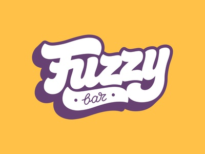 Lettering logo for Fuzzy Bar