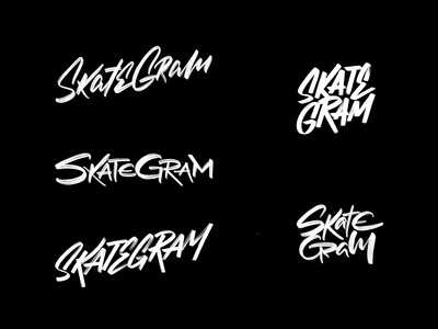 Skategram Lettering Logo Exploration