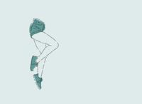 Floating legs illustration woman illustration woman colorful illustration flat digital illustration digitalart illustrator fun design