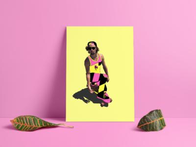 Endless Summer fun poster photoshop illustrator