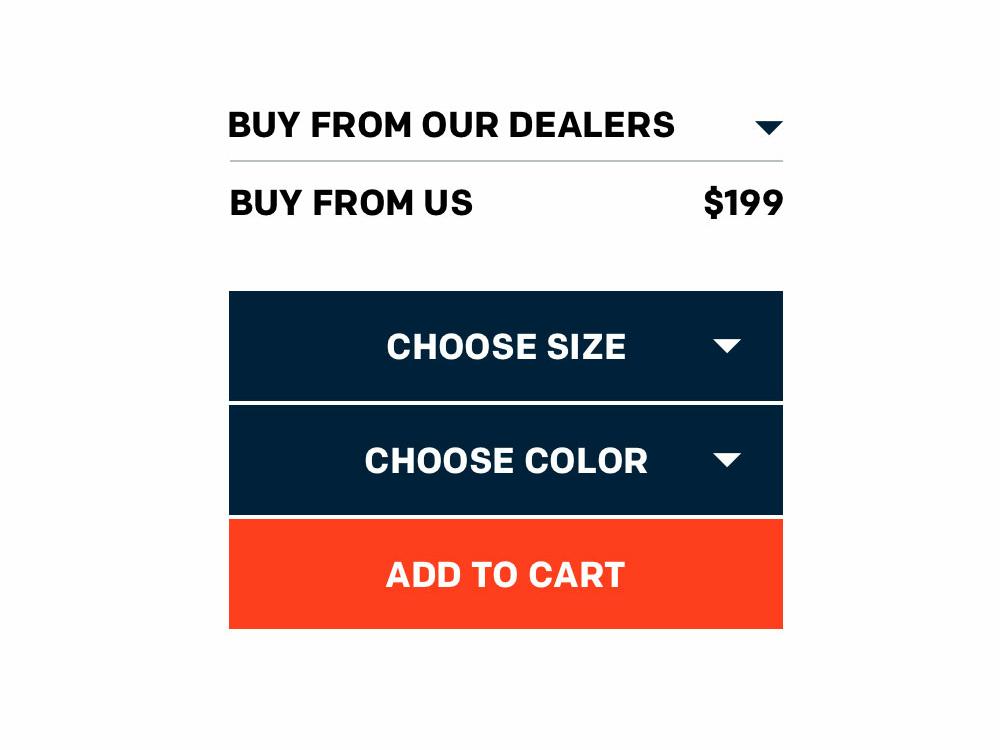 E-store options e-store minimal website web ux ui flat design