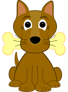 Dog brown dog illustration