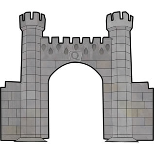 Castle Gate castle gate illustration meh help gray stone grey