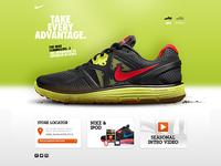 Nike LunarGlide+ 3 microsite