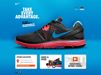 Nike LunarGlide+ 3 microsite 2nd draft