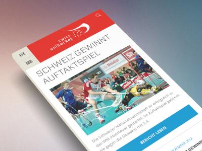 hockey platform mobile portal platform news swiss hockey sports website layout mobile responsive
